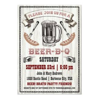 Invitación del fiesta de la Cerveza-B-q en la