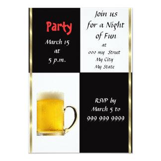 Invitación del fiesta de la cerveza de la