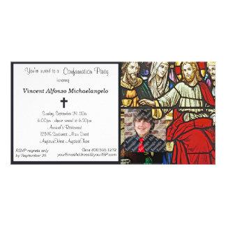 Invitación del fiesta de la confirmación del vitra tarjeta personal con foto