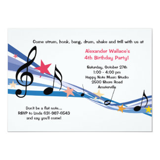Invitación del fiesta de la escuela de música