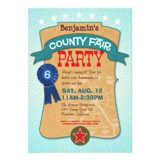 Invitación del fiesta de la feria del condado