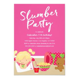 Invitación del fiesta de la fiesta de pijamas