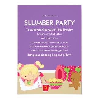 Invitación del fiesta de la fiesta de pijamas el |