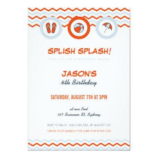 Invitación del fiesta/de la fiesta en la piscina