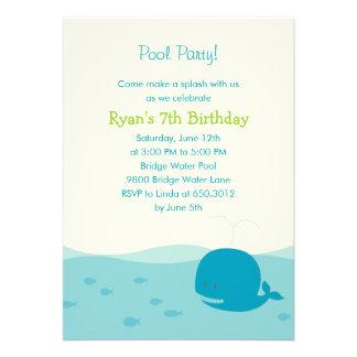 Invitación del fiesta de la fiesta en la piscina o