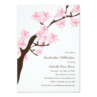 Invitación del fiesta de la flor de cerezo el  