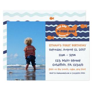 Invitación del fiesta de la foto del cumpleaños