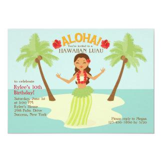 Invitación del fiesta de la hawaiana invitación 12,7 x 17,8 cm