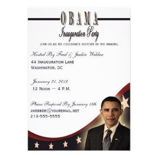 Invitación del fiesta de la inauguración 2013 de O