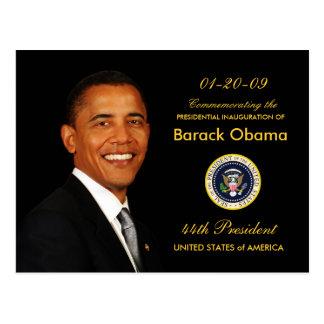 Invitación del fiesta de la inauguración de Obama Postal