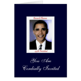 Invitación del fiesta de la inauguración de Obama  Felicitaciones