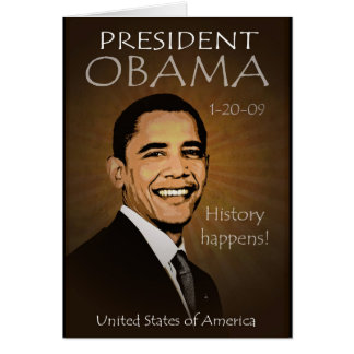Invitación del fiesta de la inauguración de Obama Tarjetón