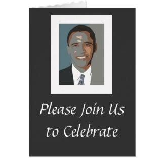 Invitación del fiesta de la inauguración de Obama Tarjeta