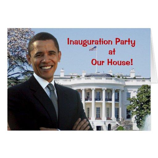 Invitación del fiesta de la inauguración de Obama Felicitacion