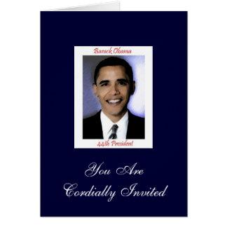 Invitación del fiesta de la inauguración de Obama Tarjeta De Felicitación