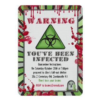 Invitación del fiesta de la infección del zombi