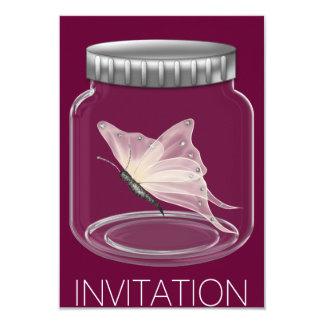 Invitación del fiesta de la mariposa invitación 8,9 x 12,7 cm