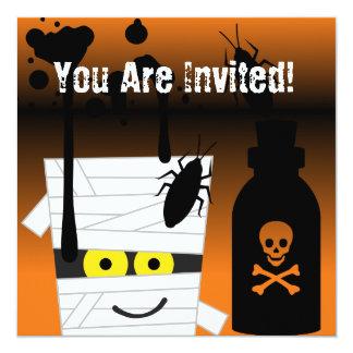 Tarjeta Invitación del fiesta de la momia de Halloween