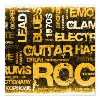 Invitación del fiesta de la música rock como arte