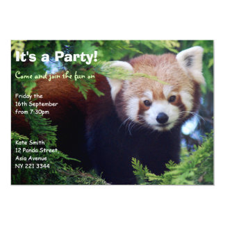 Invitación del fiesta de la panda roja