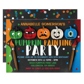 Invitación del fiesta de la pintura de la calabaza