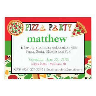 Invitación del fiesta de la pizza invitación 12,7 x 17,8 cm