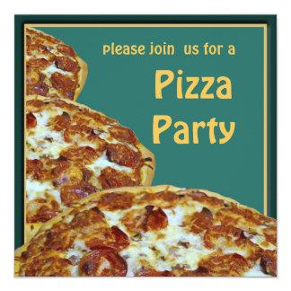 Invitación del fiesta de la pizza y de la cerveza