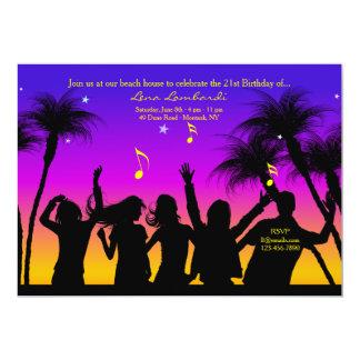 Invitación del fiesta de la playa