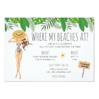 Invitación del fiesta de la playa de Bachelorette