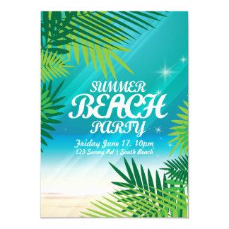 Tarjeta Invitación del fiesta de la playa del verano