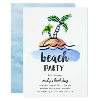 Invitación del fiesta de la playa del verano de la
