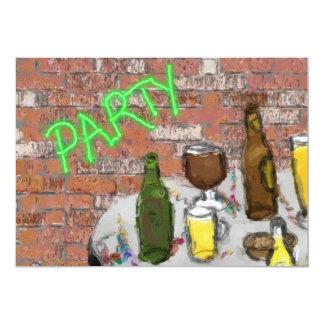 Invitación del fiesta de la prueba de la cerveza invitación 12,7 x 17,8 cm