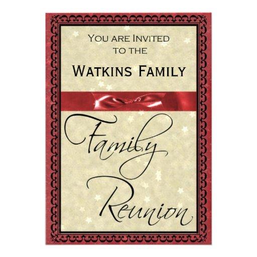 Invitación del fiesta de la reunión de familia