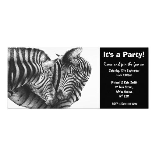 Invitación del fiesta de las cebras