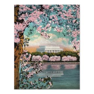 Invitación del fiesta de las flores de cerezo