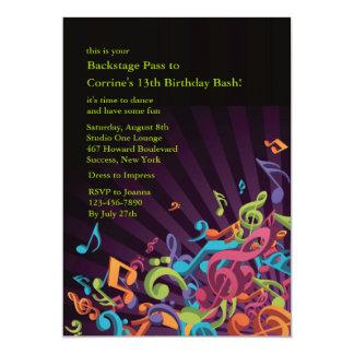 Invitación del fiesta de las notas musicales