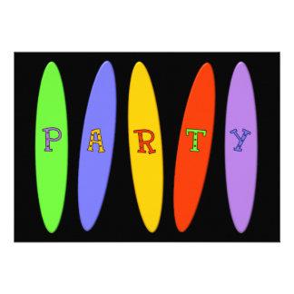 Invitación del fiesta de las tablas hawaianas