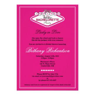 Invitación del fiesta de Las Vegas Bachelorette -