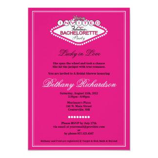 Invitación del fiesta de Las Vegas Bachelorette - Invitación 12,7 X 17,8 Cm