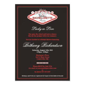Invitación del fiesta de Las Vegas Bachelorette Invitación 12,7 X 17,8 Cm