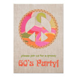 invitación del fiesta de los años 60