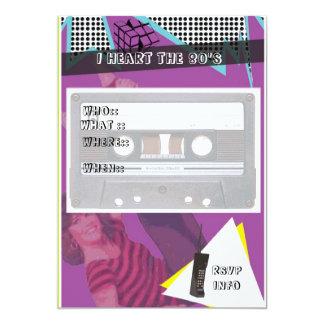 invitación del fiesta de los años 80 invitación 12,7 x 17,8 cm