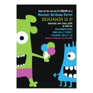 Invitación del fiesta de los niños del helado del invitación 12,7 x 17,8 cm