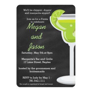 Invitación del fiesta de Margarita de la pizarra