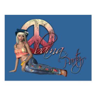 Invitación del fiesta de Obama del Hippie Postales