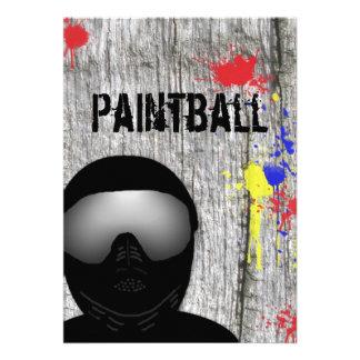 Invitación del fiesta de Paintball diseño 2