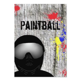 Invitación del fiesta de Paintball (diseño 2) Invitación 12,7 X 17,8 Cm