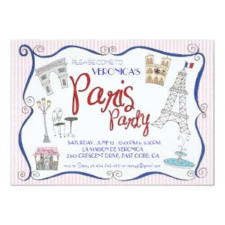 Invitación del fiesta de París