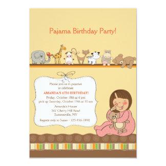 Invitación del fiesta de pijama