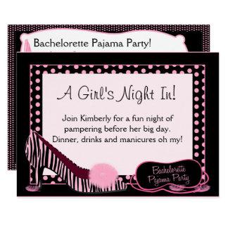 Invitación del fiesta de pijama de Bachelorette